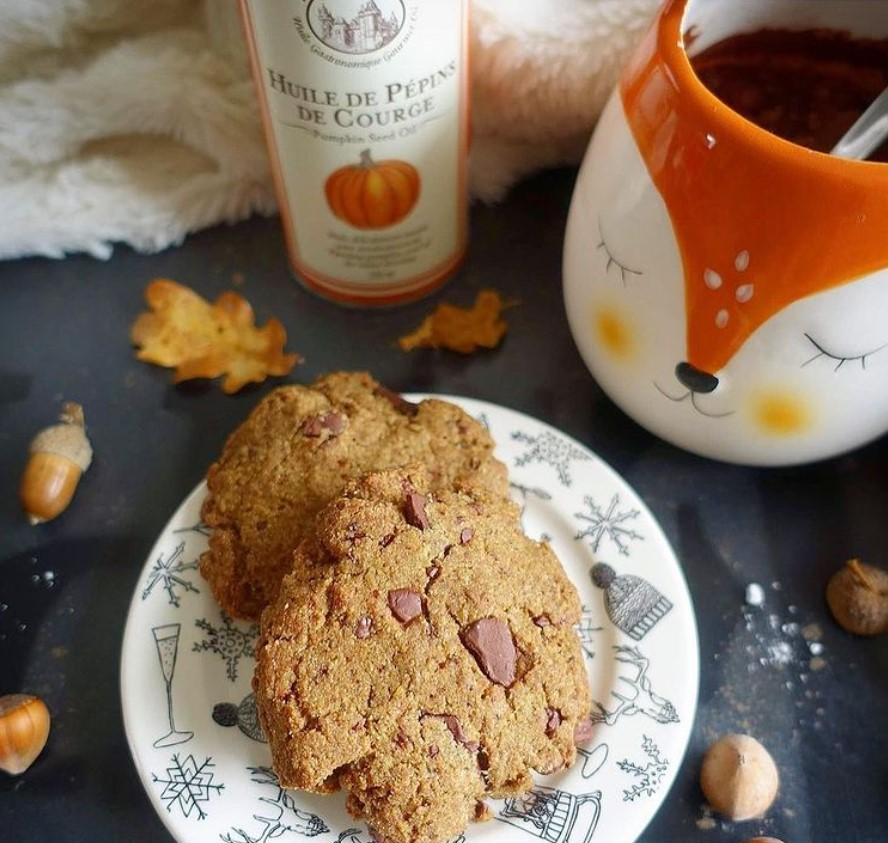 Cookies d'automne à l'huile de Pépins de Courge